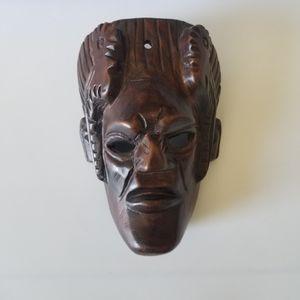 Old vintage wool carving mask